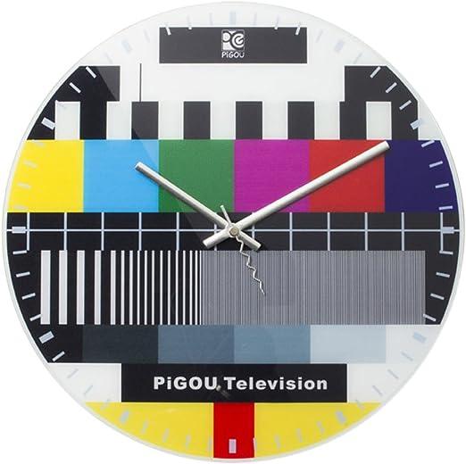 Retro Prueba televisor TV Reloj de pared con cancelación de 30 cm ...