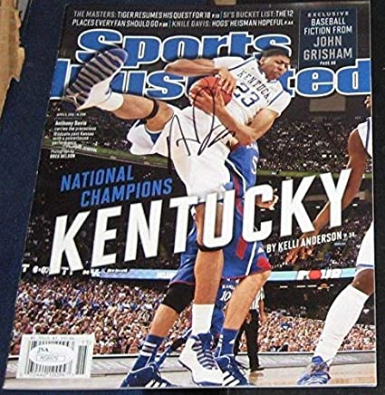 3f433b45624 ANTHONY DAVIS Kentucky Wildcats SIGNED Sports Illustrated SI M58479 NO  LABEL - JSA Certified - Autographed