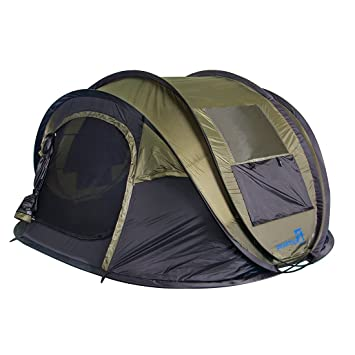 Peaktop 3-4 Person Instant Automatic Pop up C&ing Tent Lightweight Portable Hiking Backpack Dome  sc 1 st  Amazon.com : pop up tent 4 person - memphite.com