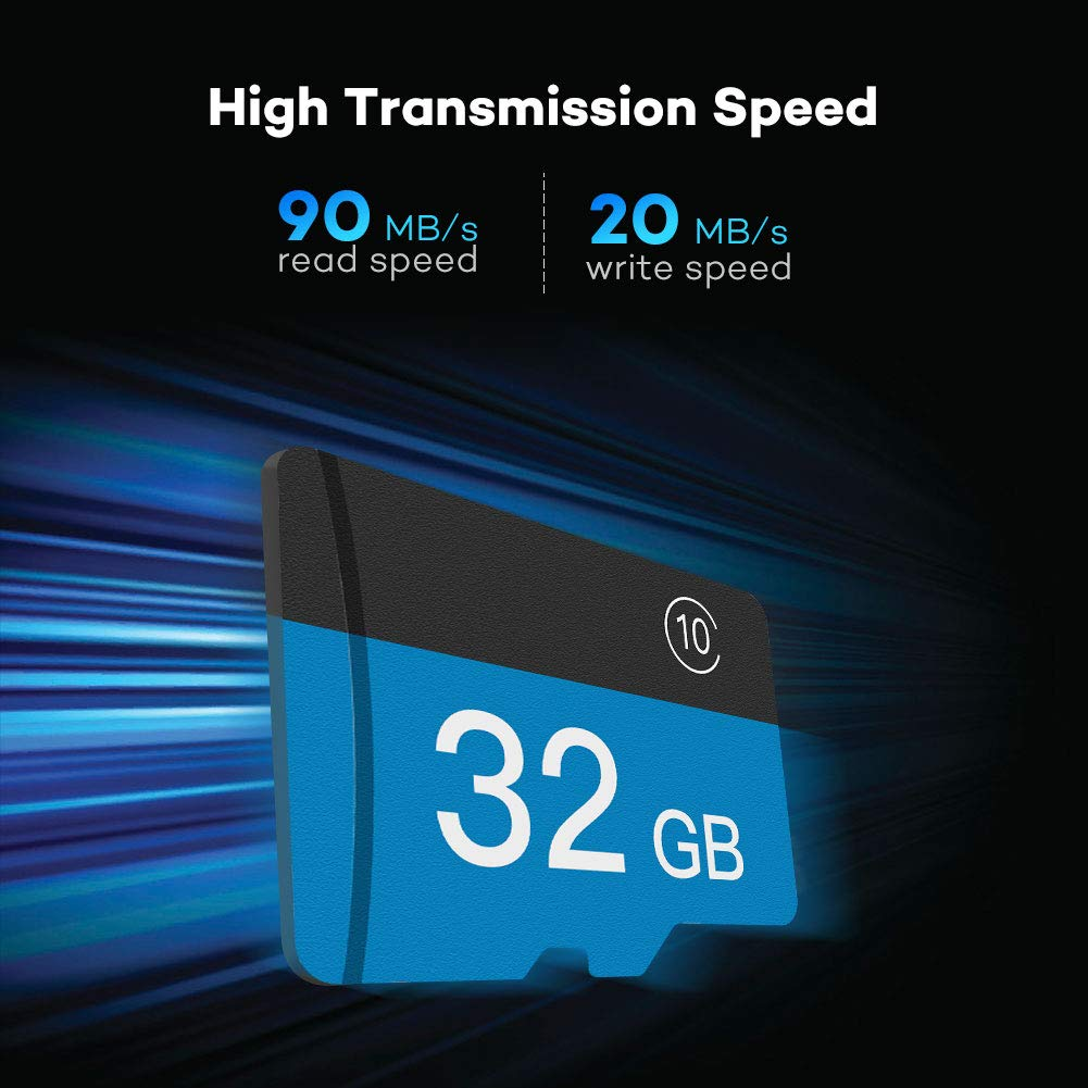 Volador 32GB Micro SD Card HC Memory Card SD Class 10 with SD Adapter MP3 players GPS Supports Windows//Mac OS For Digital Camera Cellular Phones Industrial Endoscope