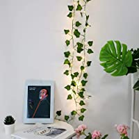 2M 20 LED Lights String Ivy Leaf for Halloween Xmas Trees Garden Yard Home Patio Wedding Party Bedroom Decoration…