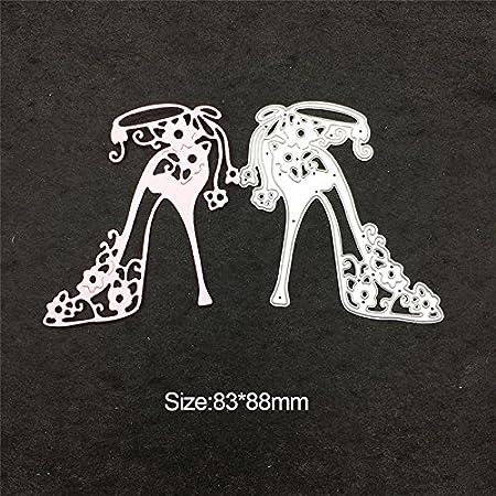 4YANG Album per Ritagli Metallo Stampo Taglio Fresa di Template Decorazione del mestiere Carta Fai da Te goffratura Stencil Lady Abito da Sera