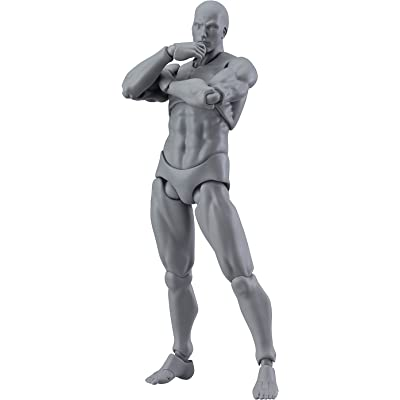 Max Factory Figma Archetype Next Male Action Figure (Gray Colored Version): Toys & Games