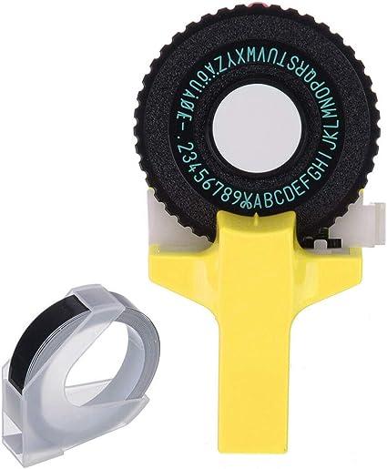 SMTHOME Manual amarillo DIY Gofrado 3D Label Maker MINI Letter ...
