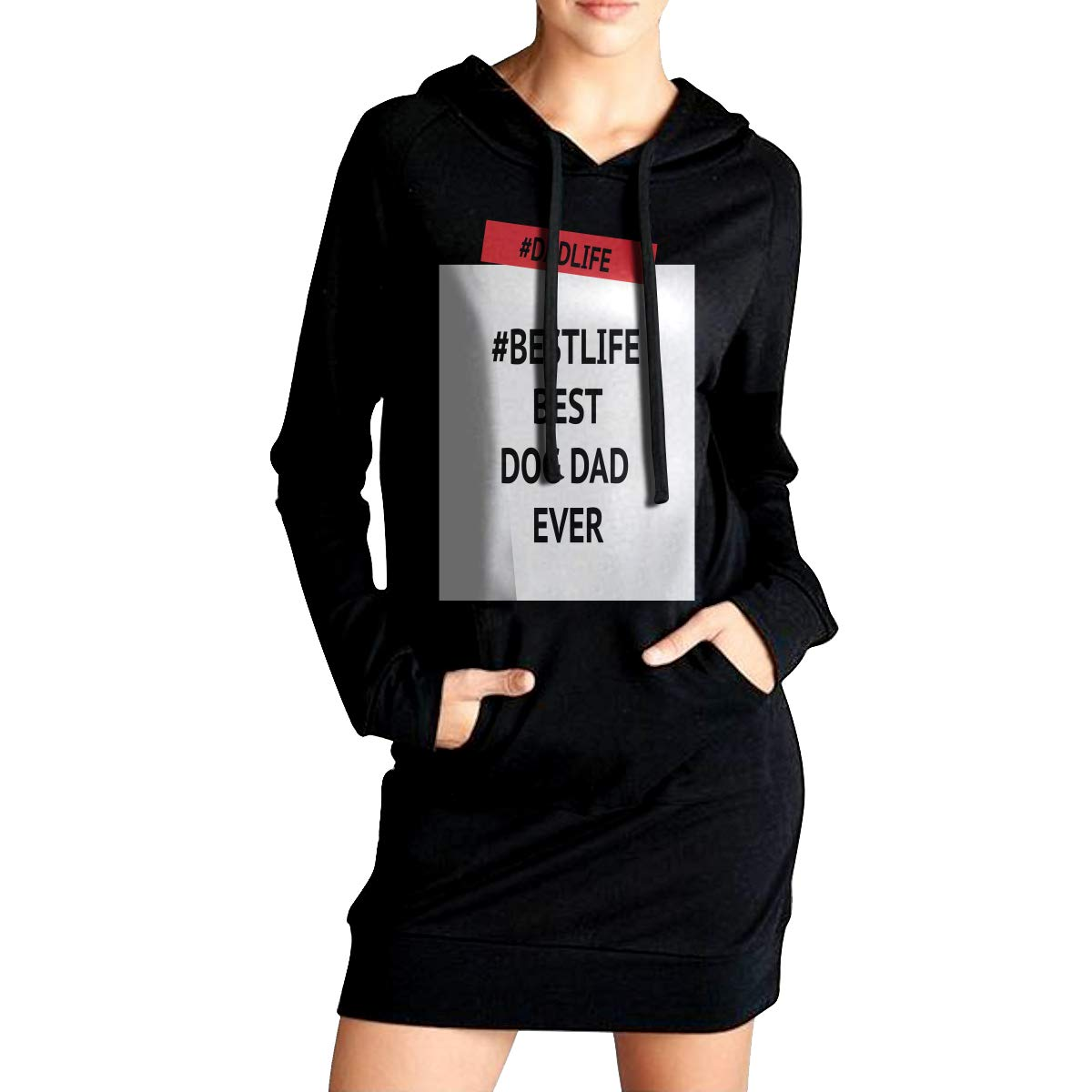 TDYUS DesignName Womens Cotton Black Hoodies With Pocket