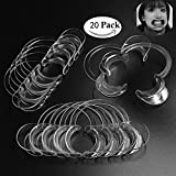 Mouthpieces for Watch Ya Mouth/Speak Out Game ,Juliu 20pcs C-SHAPE Clear Teeth Whitening Intraoral Cheek Lip Retractors Mouth Opener,FDA & FBA,Small Size for Kids