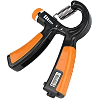 Adjustable Handheld Power Trainer, Adult Small Grip Training Device, Portable Finger Wrist Finger Exercise Tool(Orange)