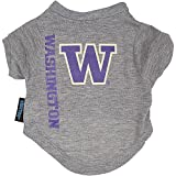 NCAA Washington Huskies Pet T-Shirt, Team Color, Large