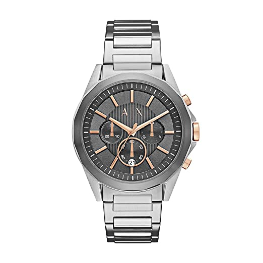 Amazon.com: Armani Exchange Mens AX2606 Silver Watch: Armani Exchange: Watches
