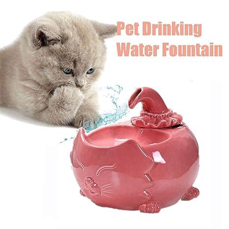 Bebedero Gatos, Fuente silencioso para Gatos 1.5L Bebedero ...