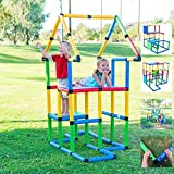 Funphix Deluxe 296 Piece Construction Toy Set - Building Play-Structures for Indoors & Outdoors - Fun & Educational Learning Toys for Ages 2 to 12