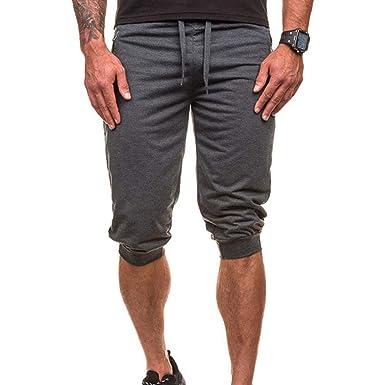 Pantalón Corto Casual Color Pantalones para De Cortos Hombre ...