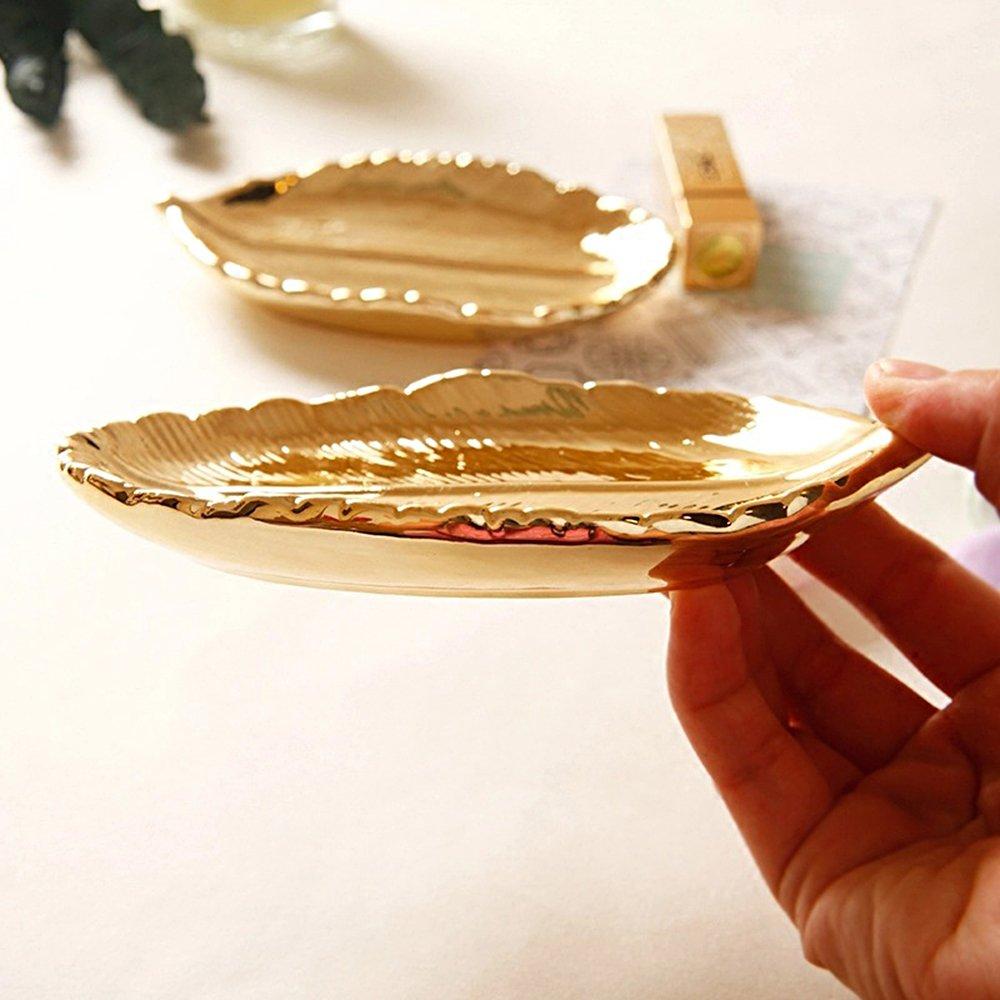 5269fe015f7e Tong Yue - Bandeja de almacenamiento de joyas de cerámica vintage ...