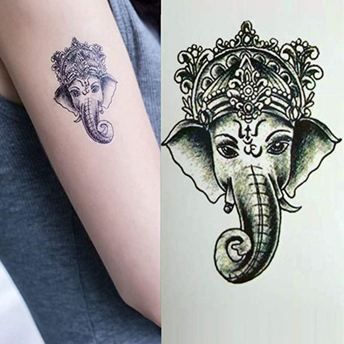 FCTGY Tatuajes Temporales Vintage Elefante Etiqueta de Tatuaje de ...