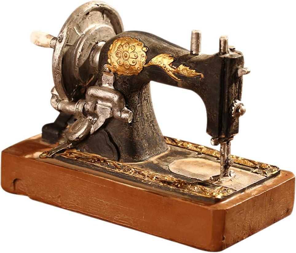 XFentech Antiguo Adornos - Vintage Adornos Adornos para Máquinas de Coser Retro Ornaments Ornamento Cafe Casa, Estilo 4, 14 * 7.5 * 12cm: Amazon.es: Hogar