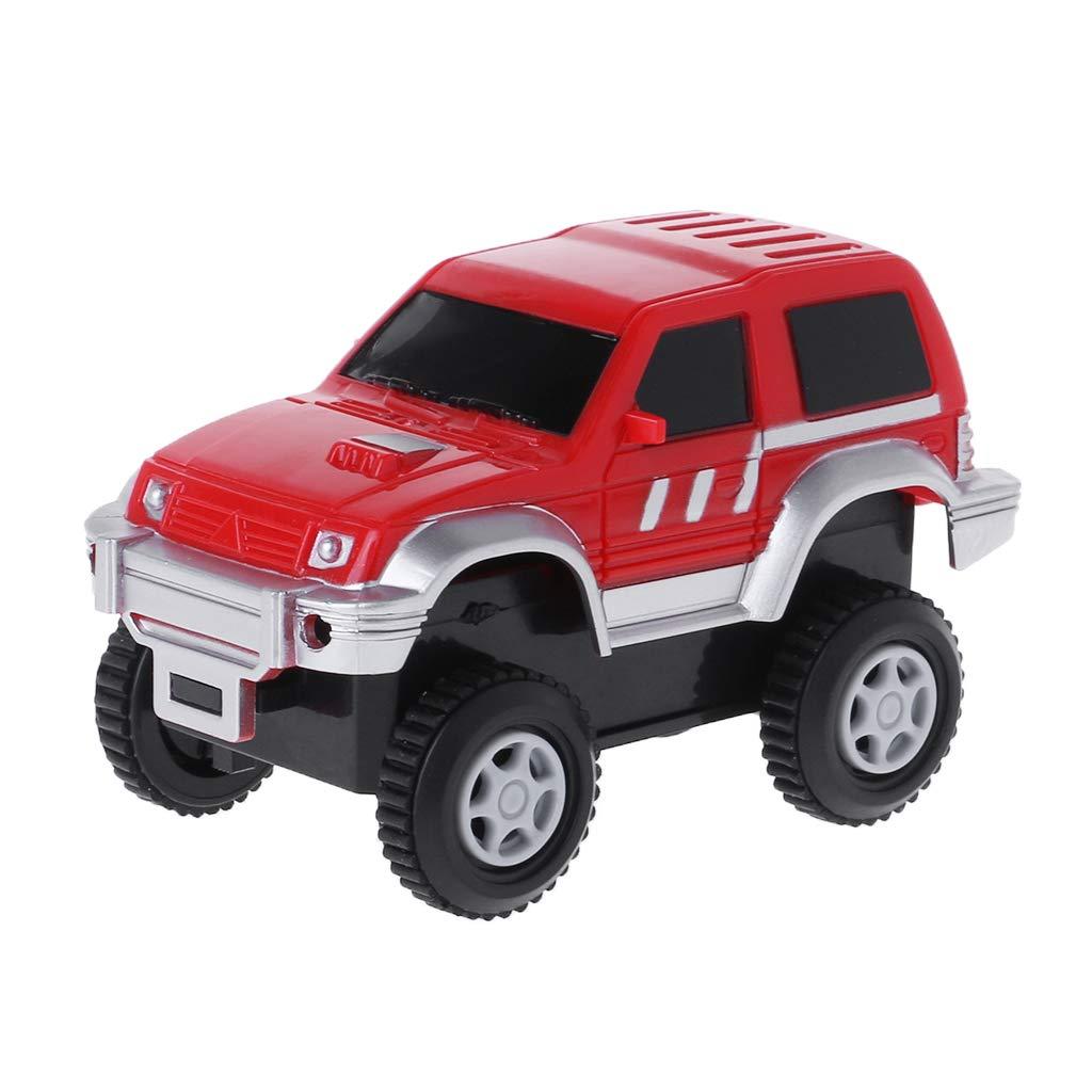 Runrain Kids Toy Rail Track Car Electronic Battery Power Toys For Children Christmas Birthday Gift