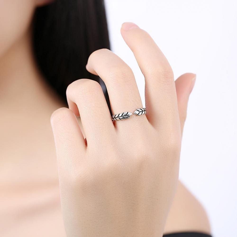 Dividiamonds 14k White Gold Plated Leaf Cross Over Ring or Toe Ring Adjustable for Women /& Girl