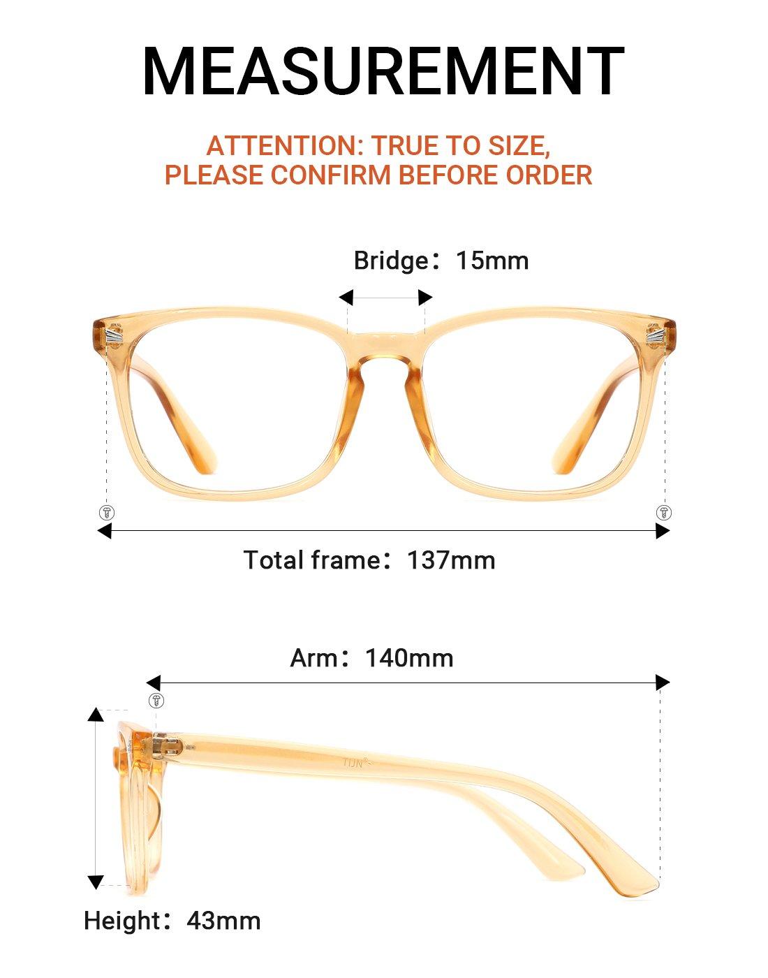 7aafe7deaf TIJN Unisex Stylish Square Non-prescription Eyeglasses Glasses Clear Lens  Eyewear 00005008