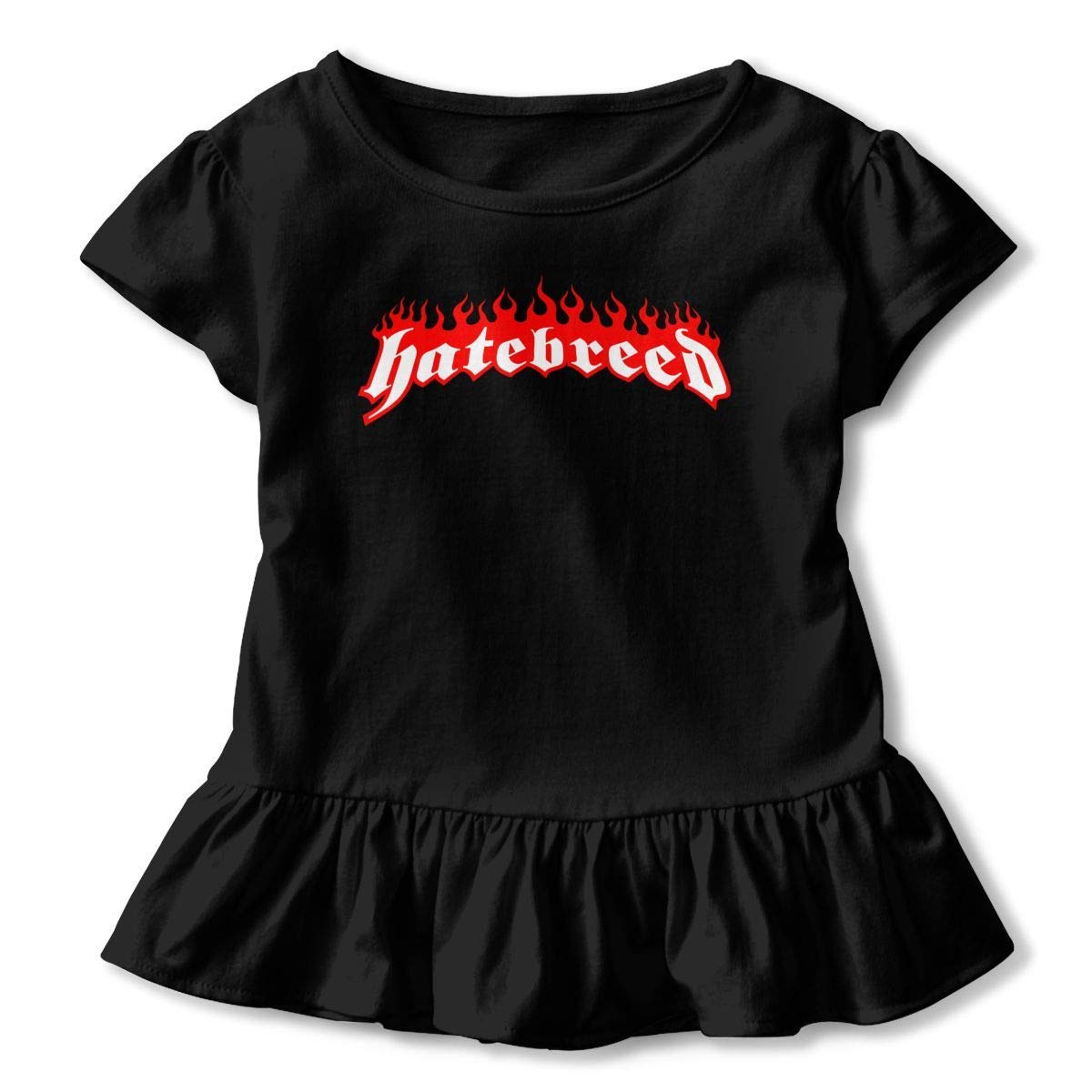 Kid T Shirt Hatebreed Logo 3D Tee Baseball Ruffle Short Sleeve Cotton Shirts Top for Girls Kids