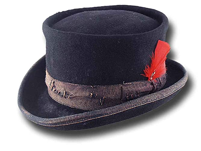 c3bc597f297b9f Amazon.com: Western Desert Rat Aged Top Hat Blue: Handmade