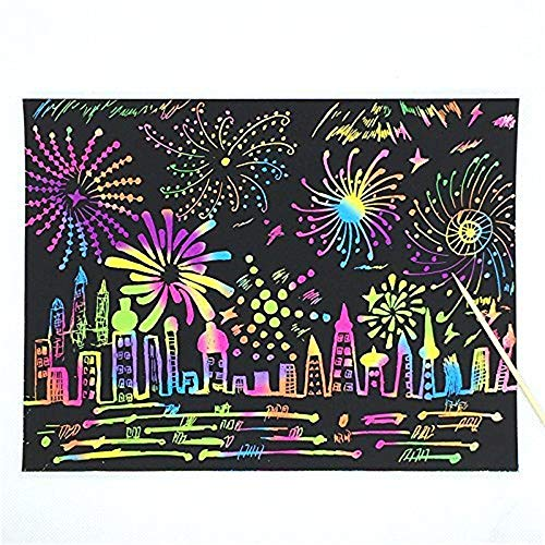 Scratch Art Rainbow Mini Notes with Wooden Stylus.aGreatLife Rainbow Scratch Art Notebooks: Best Scratch Rainbow Notes - Drawing Notepads for Kids with 3 Colorful Mini Notebooks and 3 Wooden Styluses