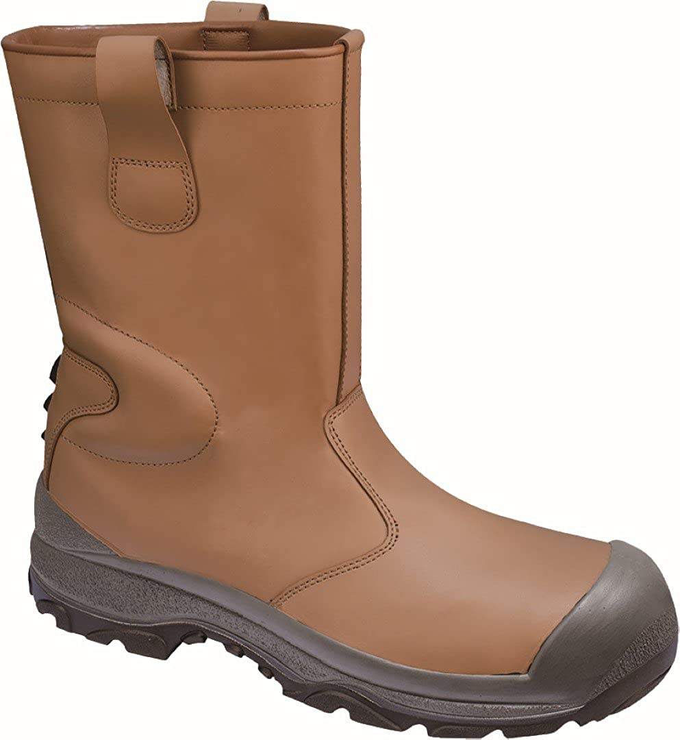 Delta Plus Panoply S3 SRC Sakha Mens Tan Fur Lined Bump Cap Safety Rigger Boots