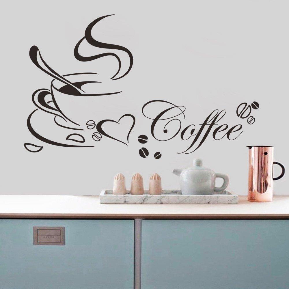 Kaffeetasse Kaffee Becher Wandaufkleber Wandtattoo Wandbild ...