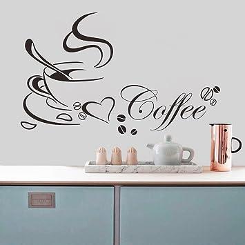 4065cm kaffeetasse abnehmbar pvc wandtattoo mit sprueche wandaufkleber aufkleber wandsticker wall sticker wall art