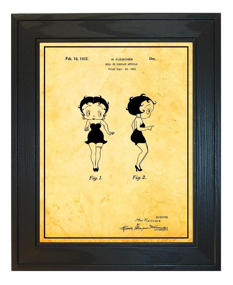 Amazon.com: Betty Boop Doll Patent Art Black Matte Print with a ...