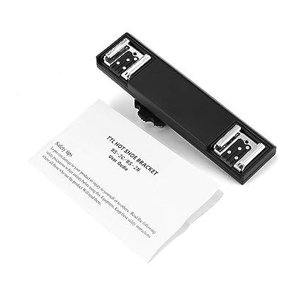 Tree-on-LifeWS-2NDual Hot Shoe Flash Speedlite Bracket Splitter for Nikon  D750 D7200 D7100 D7000 D800 D810 D600 DSLR Camera Camcorder