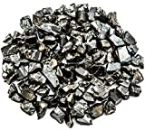 Wallystone Gems 1/8 lb Rare Natural Shungite Chips ELITE Noble Solid Crystals (3-8 mm) per One Crystal For the Accelerated Mineralization of Water