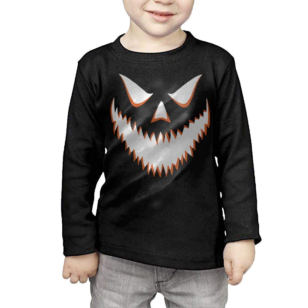 Little Girls Halloween Pumpkin-1 ComfortSoft Long Sleeve Tee