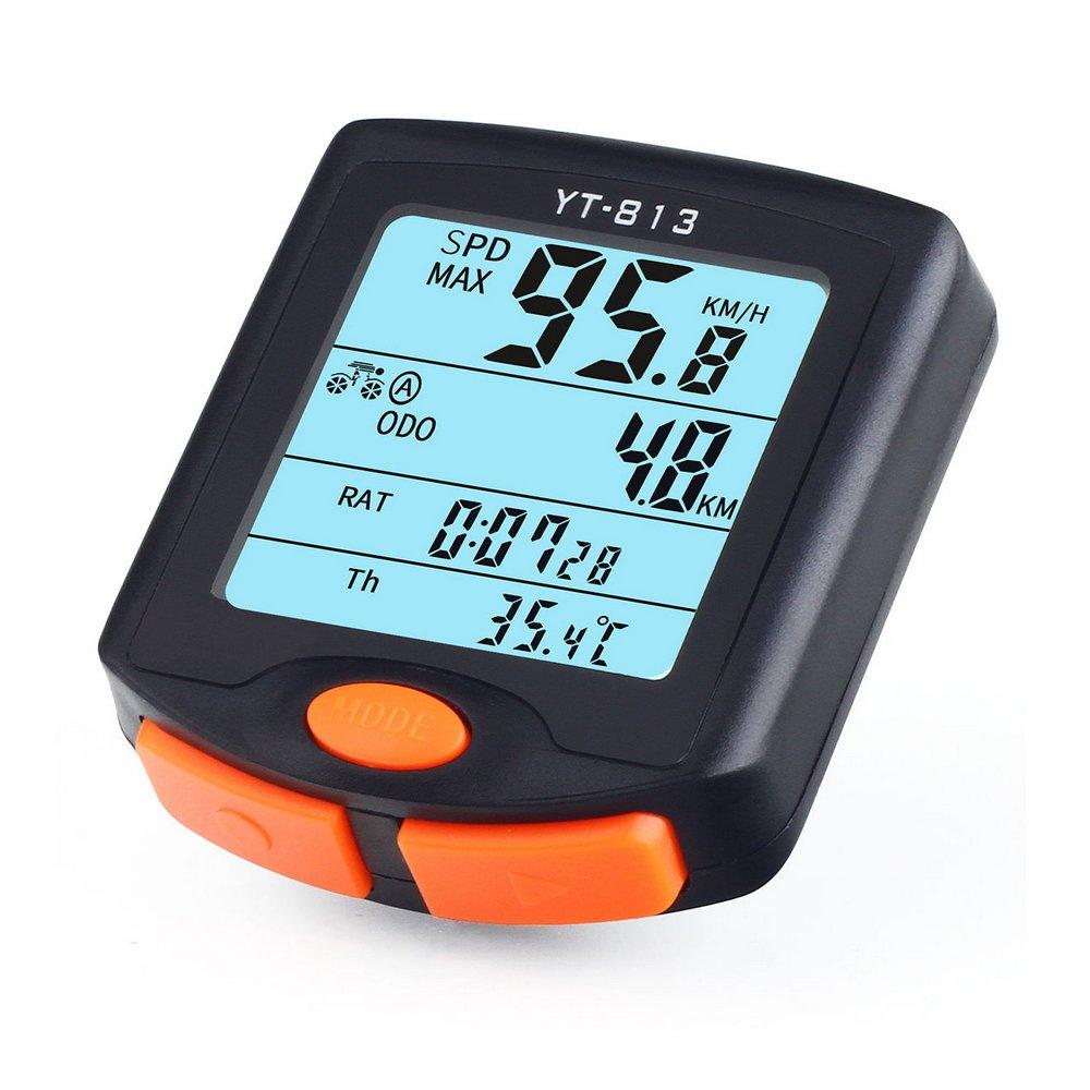 Teckcool - Velocímetro inalámbrico LCD para bicicleta, impermeable: Amazon.es: Deportes y aire libre