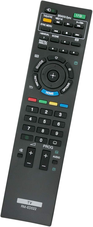 ALLIMITY RM-ED022 RMED022 Reemplace el Control Remoto por Sony Flat Panel Color Bravia TV KDL-22EX302 KDL-26EX401 KDL-32EX402 KDL-37EX302 KDL-32BX300U KDL-32EX302 KDL-37EX401U KDL-40EX401 KDL-40NX500