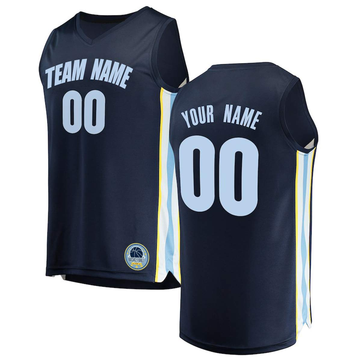 54394dfae Amazon.com : KAITE Custom Memphis Basketball Jersey, Personalized Tank Tops  Embroidered Your Name Number and Team Name : Sports & Outdoors