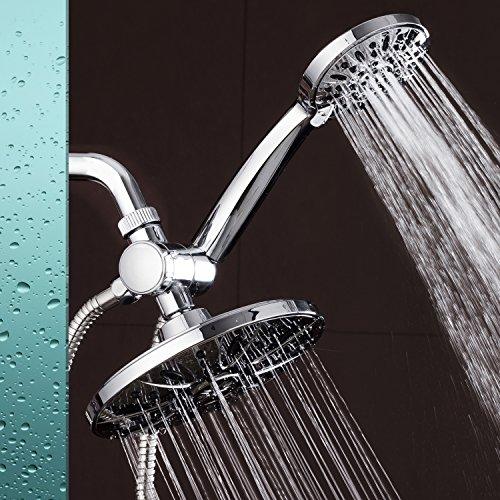 AquaDance 7 Premium High Pressure 3 Way Rainfall Shower Combo Combines