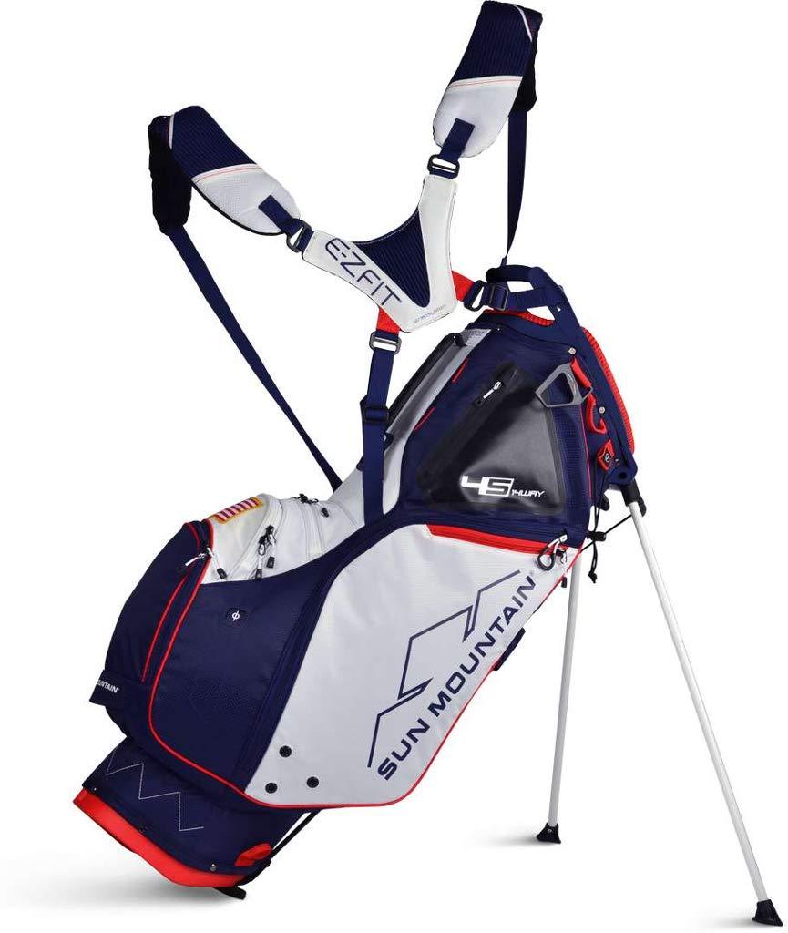 Sun Moutain Golf 2019 4.5 LS 14-Way Stand Golf Bag NAVY-WHITE-RED (Navy-White-Red) by Sun Mountain