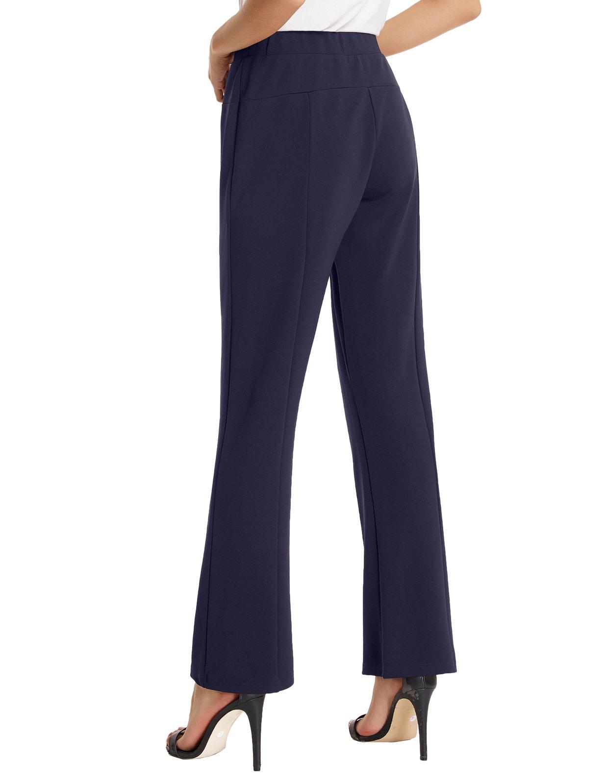Kate Kasin Womens Elastic Straight Leg Bootcut Trousers Pants L KKAF1018-2 by Kate Kasin (Image #2)