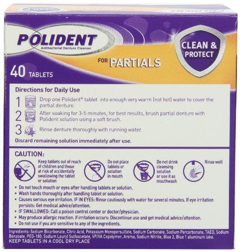 Polident Polident Partials Denture Cleanser, 40 Count