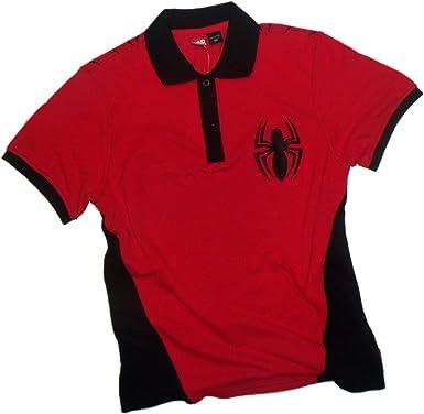 Marvel Comics Spider-Man Bordado Logo Adulto Polo Camisa Deporte ...