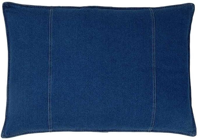 Arrows Pillow Sham Archer Denim by littlerhodydesign Boho Linen Texture Blue Denim  Cotton Sateen Pillow Sham Bedding by Spoonflower