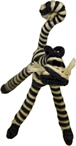 Fair Trade Yarn Striped Cat Holiday Ornament or Home Decor from Colombia