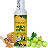 Vriddhi Organic Amla Hair Oil with Methi and Curry Leaves for Hair Growth, Reduce Hair Loss and Rejuvenate Follicles - No Preservatives or Chemicals Hair Oil - 100 ML