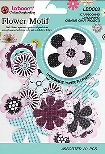 La'boom Paper Flower Embellishments for Scrapbooking Card Making Crafts Projects, Assorted Sizes and Colors