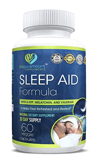 All Natural Sleep Aid Formula with 5-HTP, Melatonin, and Valerian | 60