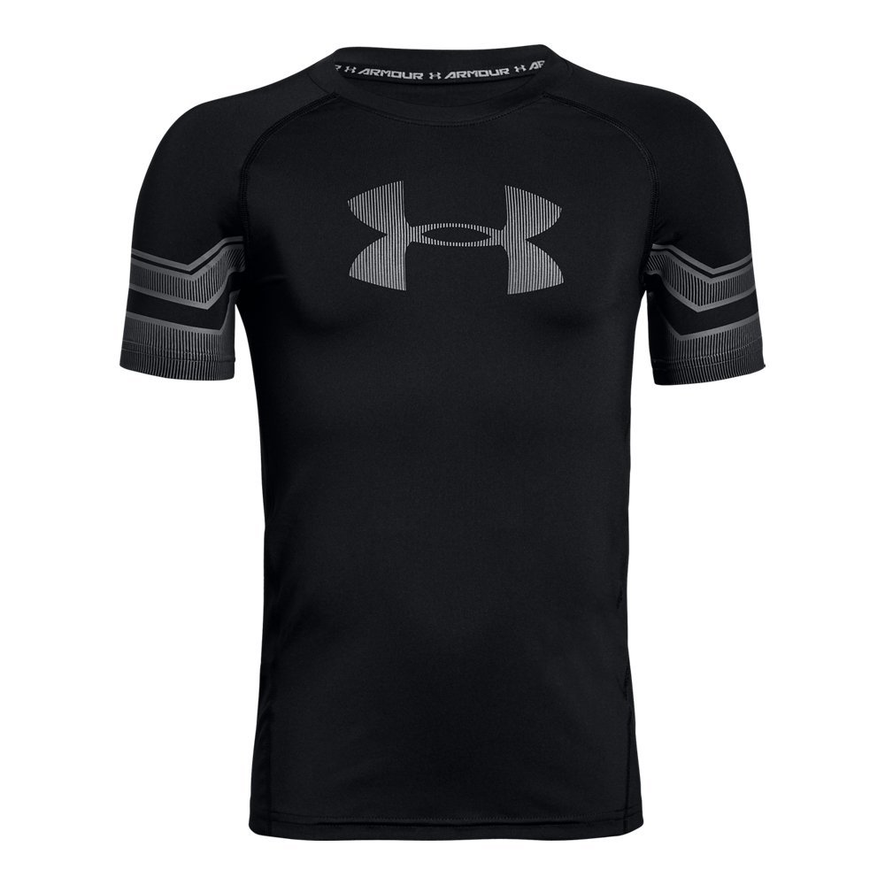 Under Armour Boys Graphic Short sleeve, Black/Graphite, Youth Small