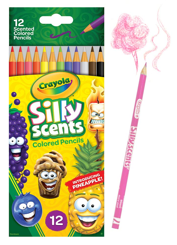 Crayola 68-2112Silly Scent Pencils, Scented Colored Pencils, Gift for Kids, 12Count, Multicolor