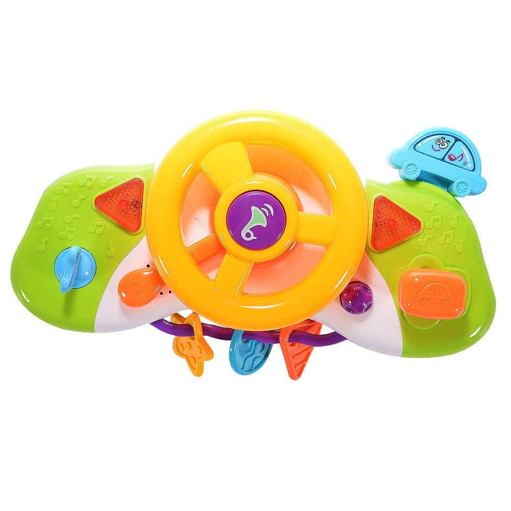 Steering Wheel Toys for Kids with Music and Light