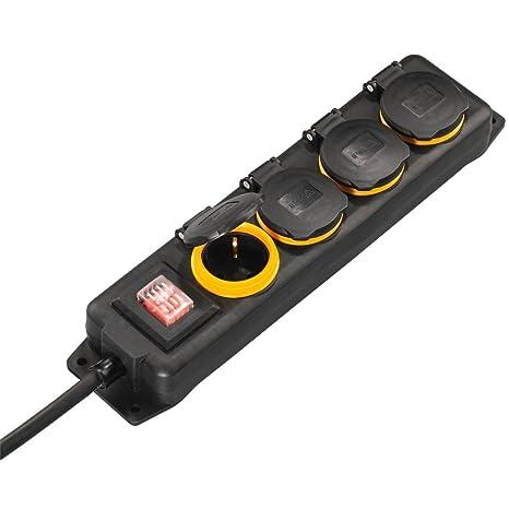 Turbo Hama Outdoor Steckdosenleiste mit Schalter (4-fach GG88
