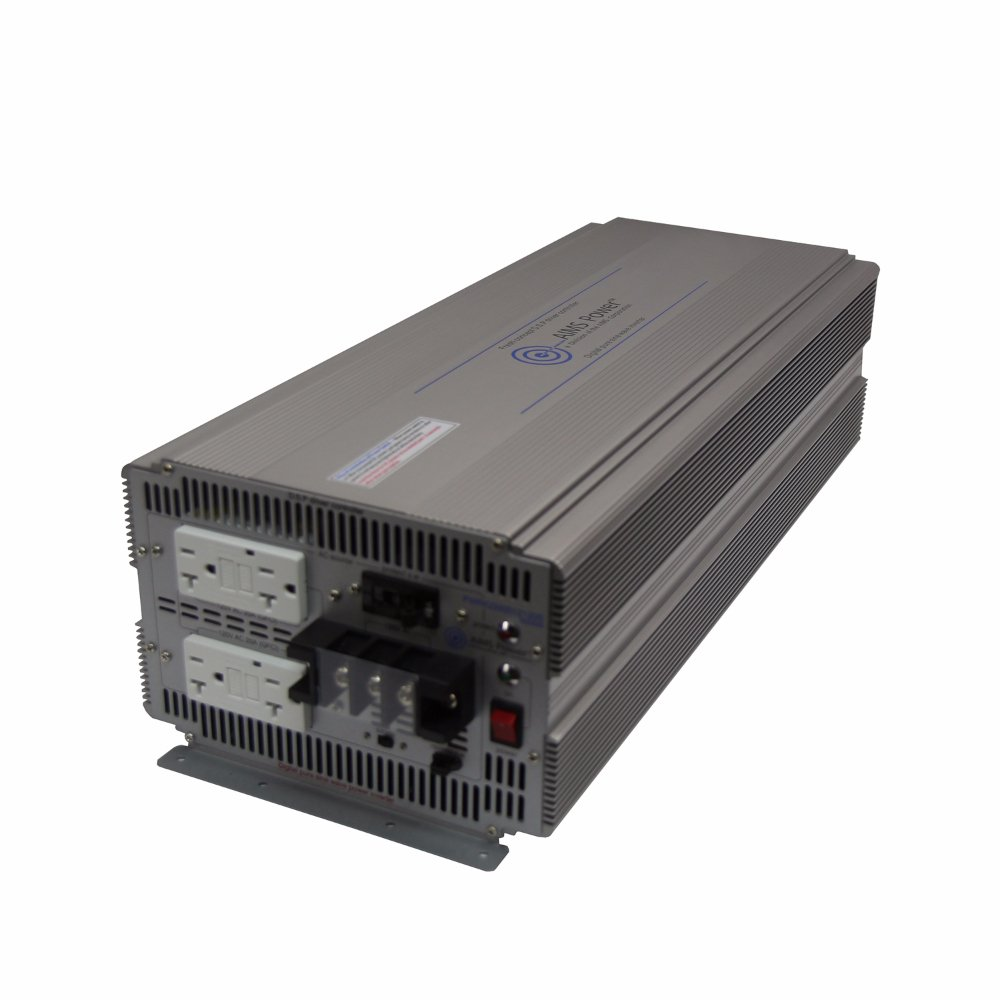 AIMS Power 5000 Watt 12V DC to 120V AC Industrial Pure Sine Power Inverter Industrial